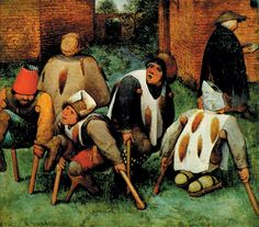 Mendicants – people who survived by begging – were common during this time, as pictured below in the painting The Beggars, by Pieter Bruegel (1568).
