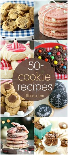 A roundup of 50+ cookie recipes - christmas cookies and favorite cookies for any time of year!! { lilluna.com }