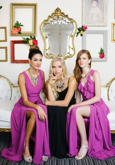 Glam Joanna August bridesmaid dresses