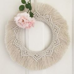 Your place to buy and sell all things handmade Macrame Mirror, Macrame Wall Hanging Diy, Macrame Cord, Macrame Bag, Dream Catcher Boho, Macrame Tutorial, Macrame Patterns, Boho Diy, Crafts To Sell