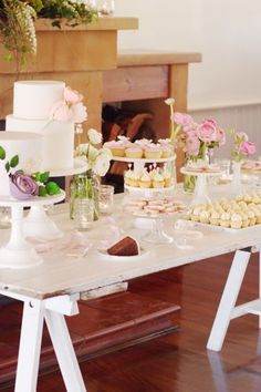 beautifully styled dessert table.