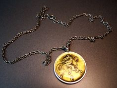 Zodiac Leo The Lion Necklace by UtterDebotury on Etsy, $3.99