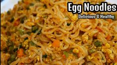 EGG NOODLES Recipe - How to make your instant noodles delicious and healthy - Egg Maggie/Indomie - YouTube Maggi Recipes, Egg Noodle Recipes, Recipe Fo, Indian Food Recipes, Ethnic Recipes, Egg Noodles, Eggs, Yummy Food, Egg