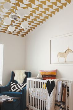 Gold and white nursery. via The Animal Print Shop by Sharon Montrose