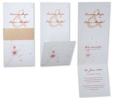 Einladungskarten-Hochzeit - Zarte Blümchen