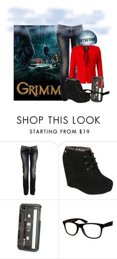 """""""Grimm Fridays"""" by krystalbay ❤ liked on Polyvore featuring Dolce&Gabbana, Blink, Jeepers Peepers, tvshow and Grimm"""