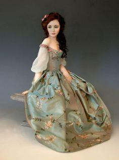 Polymer clay doll by Diane Keeler