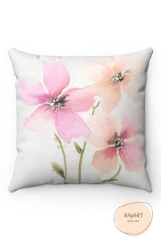 Cute watercolor design trow pillows to add the perfect decorative touch to your home decor. Living room, bedroom, and more will benefit from these unique throw pillows. Shop the look and more on our Etsy shop! #Boho #Couch #Etsy Watercolor Design, Floral Watercolor, Funny Life Lessons, Netflix Gift Card, Blue And Purple Flowers, At Home Workout Plan, Floral Pillows, Living Room Decor, Projects To Try