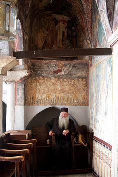 Chora, Patmos - Greece monastery of Saint John the Theologian - founded in 1088