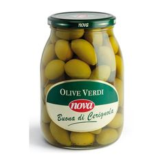 "Nova Olive verdi Buona di Cerignola. Duże zielone oliwki typ ""Cerignola"" . Green olives Buona di Cerignola. www.del-italy.eu"