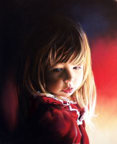 Little girl, done in pastels but would look just as cute with colored pencils.