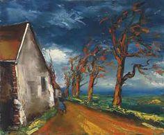 Maurice de Vlaminck (1876-1958) Personnage dans une rue de village signed 'Vlaminck' (lower left) oil on canvas 21 3/8 x 25 1/2 in. (54.2 x ...