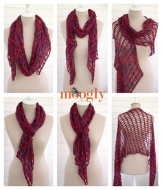 artfully simple angled scarf from Moogly