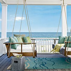 21 Ideas To Bring Home The Beach | On the Master Bedroom Porch | CoastalLiving.com #countryliving  #dreamporch
