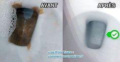 À cause du tartre, le fond et les parois de la cuvette deviennent vite cracra... L'astuce est de verser un mélange de cristaux de soude et d'eau chaude dans la cuvette. Regardez :-) Découvrez l'astuce ici : http://www.comment-economiser.fr/astuce-pour-enlever-tarte-fond-cuvette-wc-sans-effort.html?utm_content=buffer329a2&utm_medium=social&utm_source=pinterest.com&utm_campaign=buffer