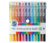 Pilot Frixion Color-Pencil-Like Erasable Gel Pen 12 Color Set Colored Pencil Lead, Colored Pencils, Erasable Highlighters, Pilot G2 Pens, Kawaii Pens, Dot Grid Notebook, Fineliner Pens, White Gel Pen, Shopping