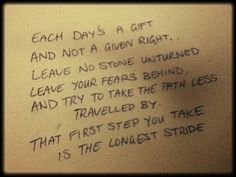 Nickelback lyrics  Each day's a gift and not a given right...