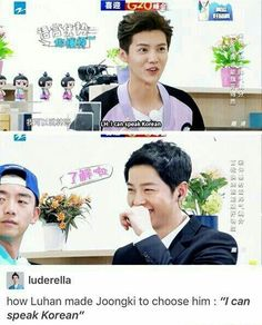 I think he is the one ex-EXO member that doesn't get triggered if someone asks him to speak in Korean