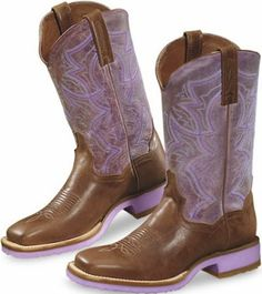 Amethyst Country Brown Boots a #Purple Cowgirl Leather Cowboy Boot upon the Lilac Ranch within a Violet #Western Rodeo