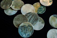 Handmade ceramic coasters Ceramic Coasters, Handmade Ceramic, Studio, Ceramics, Creative, Ceramica, Pottery, Studios, Ceramic Art
