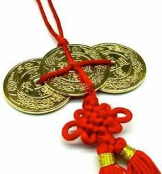 Feng Shui gold coins worn or kept in the home, symbolizes wealth & prosperity