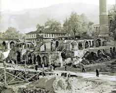 1958 Kapalıçarşı yangını sonrası inşaat ve toparlanma..