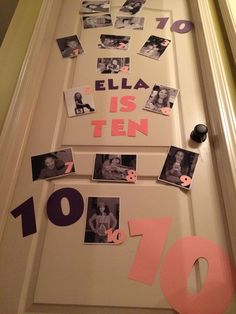 Birthday Door Decoration Ten Years Old Birth Pictures And Then One 13th Birthday Parties, 12th Birthday, Birthday Fun, Birthday Party Themes, Cake Birthday, Birthday Quotes, Birthday Presents, Birthday Door Decorations, Room Decorations