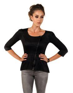 Tribeca Exchange | Quarter sleeve leather jacket