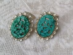 Vintage clip on earrings by PureJoyVintage on Etsy