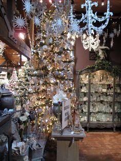 Roger's Gardens Christmas 2009- Wendy Addison silver glitter tree.