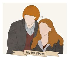 """20 favorite fictional couples: Ron and Hermione, Harry Potter """"""""It's now or never, isn't it? Ron And Hermione, Ron Weasley, Hermione Granger, Harry Potter Canvas, Harry Potter Background, Aesthetic Wallpapers, Hogwarts, Profile Pictures, Outline"""