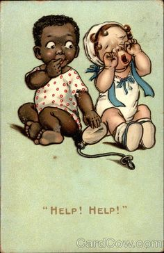 Help! Help! I Love Those Bottles Back Then, Kids Didn't Have To Hold A Heavy Glass Bottle Because It Has A Tube To A Nipple!  Black Americana