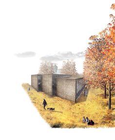 Landscape Architecture Perspective, Drawing Architecture, Architecture Graphics, Landscape Engineer, Cool Photoshop, Studio Ideas, Collages, Doodle, Concrete