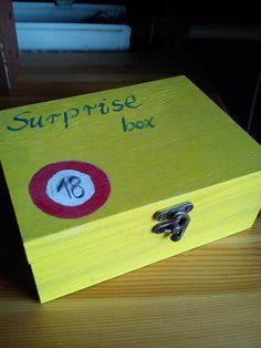 #surprise box #18 #birthday #gift idea