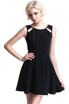 Shop Black Splicing Back Hollowed Dress at ROMWE, discover more fashion styles online. Dress Me Up, Dress For You, Dress Skirt, Dress Outfits, Cute Outfits, Work Outfits, Cute Dresses, Short Dresses, Latest Street Fashion