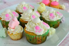 Bunny Butt Cakes - GREAT Easter treat to make with the kids!