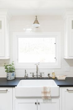 White kitchen sinks: Studio McGee's newest project