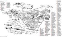 North American F-86 E Sabre cutaway by Arthur Bowbeer