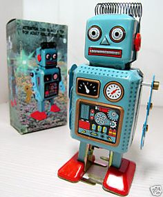 Vintage robot boys' room I love these quirky robots
