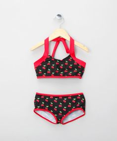 Take a look at this Black Cherry Peggy Bikini - Infant, Toddler & Girls by Rockefella on #zulily today!