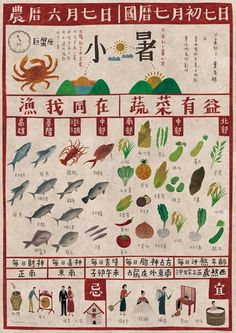 seed design - Chinese solar term calendar Poster Layout, Print Layout, Poster Design, Tea Design, Retro Design, Graphic Design, Taiwan Image, Chinese Posters, Old Newspaper