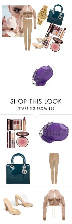"""""""Untitled #73"""" by fadilabanjic on Polyvore featuring Charlotte Tilbury, Moschino, Christian Dior, The Row, Rolex and holdontothatbag"""