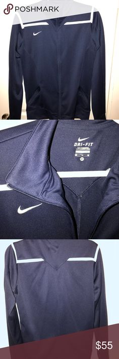 "NIKE ""soccer"" jacket Nike Soccer jacket so it has the holes for your thumbs. Good condition 9/10. It's a Medium TALL so the sleeves will be a little longer. Nike Jackets & Coats"