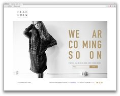coming soon page — Fine Folk
