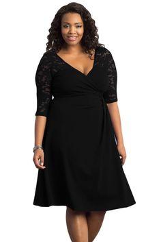 Dear Lover Women Work Autumn XXXL Dresses Black Blue Lavish V-neck Lace  Half Sleeves Plus Midi Dress Vestidos Robe Femme bcbdcd3002ed