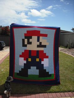 My Super Mario Quilt made for Mark