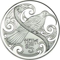 5 Dollar Silber Jahresmünze 2015 - Huia PP