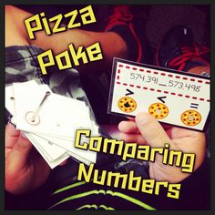 Pizza Poke! These 48 self-checking cards will help students independently practice comparing numbers up to the millions place. Fourth grade common core standard NBT.A.2 is covered with these cards. $