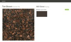 Tan Brown. Granite Tile. Flooring. MSI Stone. Ralph Lauren Paint.  Click the gray Visit button to see the matching paint names.