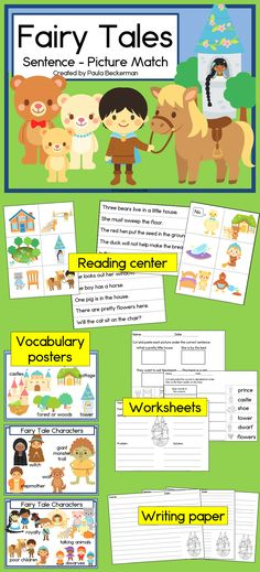 This fun reading activity is perfect for kindergarten and first grade students.  Packed with sight words and favorite characters, there are even posters and printable worksheets included.  TpT$